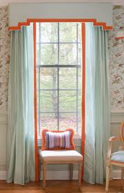 Dining Room Curtain Panels Shaped Cornice Board Over Panels Window Treatments Pinterest