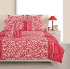 Swayam White N Pink Floral Swayam Bedsheets Buy Swayam Bedsheets Online At Best Prices In