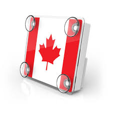 Candaian Flag Ez Pass Toll Transponder Holder Canadian Flag Autoboxclub
