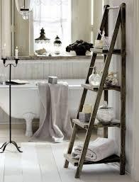 Bathroom Wall Shelves Bathroom Wood Leaning Ladder Shelf For Bathroom Bathroom Ladder