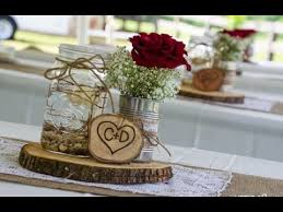 jar flower centerpieces jar burlap wedding centerpieces