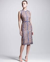 reed krakoff embroidered organza dress lyst