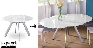 Circle Glass Table And Chairs The Butterfly Expandable Round Glass Dining Table Expand