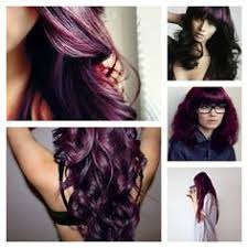age beautiful hair color reviews violet purple plum hair pinteres