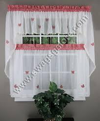 White Kitchen Curtains by Butterfly Gingham Café Curtains U2013 Red U2013 Lorraine Jabot U0026 Swag
