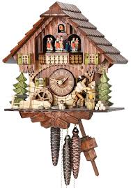 Chalet Style Cuckoo Clock 1 Day Movement Chalet Style 32cm By Hekas 3705 Ex
