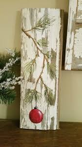Wood Projects For Xmas Gifts by Hand Painted Christmas Decoration Gifts By Thewhitebirchstudio