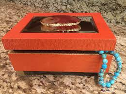 agate display box jewelry box large agate slice gold leaf