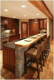 butcher block breakfast bar kitchen traditional with eat in