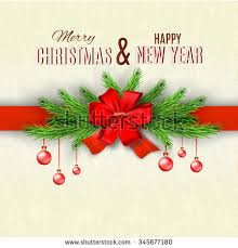 happy new year merry christmas greeting stock vector 328428635