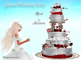 Red And Silver Wedding Second Life Marketplace Dr3amweaver Grand Wedding Cake Red