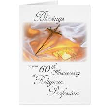 60th anniversary of religious for a card zazzle