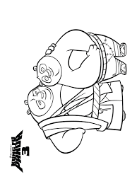 kung fu panda coloring pages games monkey 3 real traced drawings