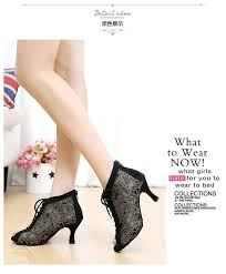 womens boots narrow width brand black lace mesh s shoes high heeled 7 5