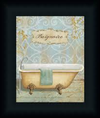 Bathroom Artwork Salle De Bain Ii By Daphne Brissonnet Art Print Framed