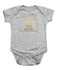 Amazing Deal On Periodic Table Shower Curtain Kids Children Periodic Table Of Elements Gold Au Gold On Gold Onesie For
