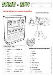 Countable And Uncountable Some Any Exercises Pdf Teaching Worksheets Countable And Uncountable Nouns