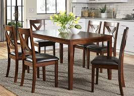 thornton russet 7 piece rectangular dining room set from liberty