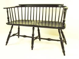 Antique Windsor Bench Handmade Windsor Bench By Wood Connections Llc Custom Woodworking