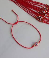 red bracelet with eye images Demon eye kabbalah red string bracelet goldtone bead good luck jpg