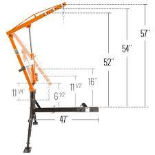 receiver hitch crane by apex 1 000 lb capacity hmc 1000