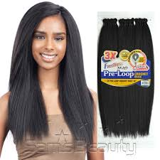 pre braided crochet hair freetress synthetic hair crochet braids 3x pre loop crochet yaky