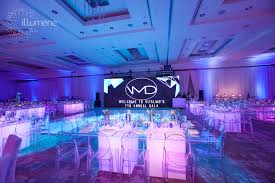 modern lighting and decor for corporate parties and special events