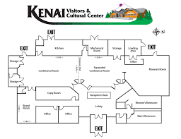 facility floor plan kenai chamber of commerce and visitors center facility floor plan