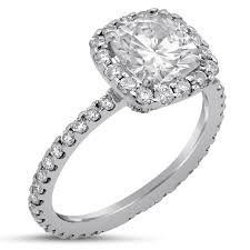 Harry Winston Wedding Rings by Cushion Cut Harry Winston Style Diamond Engagement Ring C11