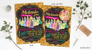 princess invitation disney princess birthday invitation