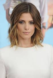 ashley greene with beautiful ombre lob 2015 medium hairstyles for