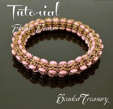 power beads bracelet images Flower power beaded bangle pattern superduo bead pattern jpg