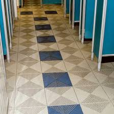 to create an anti slip floor in changing room unique tiles were