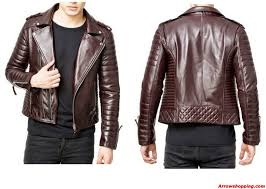 motorbike vest arrow mens stylish slimfit lambskin moto biker leather jacket