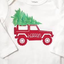 jeep christmas shirt baby bodysuit custom christmas jeep the little movement shop