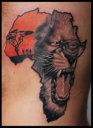 butterfly and lion tattoo female african warrior tattoos roaring lion head in african map