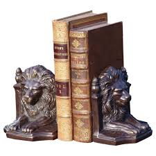 bookends lion metal lion bookends set of 2