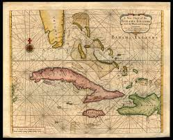 Map Of West Indies Caribbean U0026 West Indies Bahama Islands John Thornton 1739