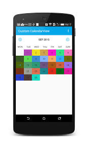 android library create a customcalendarview library in android dzone mobile