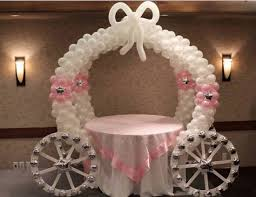 wedding arch balloons balloon carriage is for princess party the whoot