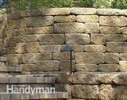 how to choose the right retaining wall material family handyman