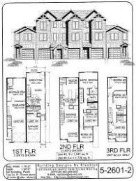 4 plex skinny units apartment house plan ideas pinterest