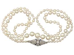 sapphire pearl necklace images Antique pearl necklace with diamond clasp necklaces for sale jpg