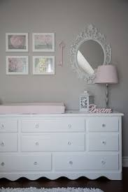 Beautiful Gray And Pink Nursery Features Our Stella Gray Baby - Baby bedroom ideas girl