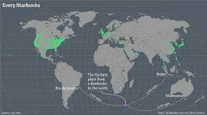 Kuwait On A Map Maps Of Every Starbucks On Earth U2014 Quartz