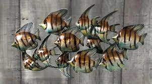 second marketplace metal fish wall decoration