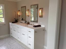Hardware For Bathroom Cabinets by Sconces Flanking Medicine Cabinet Design Ideas