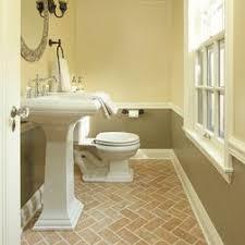 traditional brick floor powder room design ideas pictures