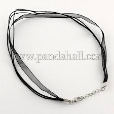 necklace cord images Wholesale jewelry making necklace cord organza ribbon cotton JPG