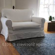 Chair And A Half Slip Cover Cozy Cottage Slipcovers Brushed Canvas Chair And A Half Slipcover